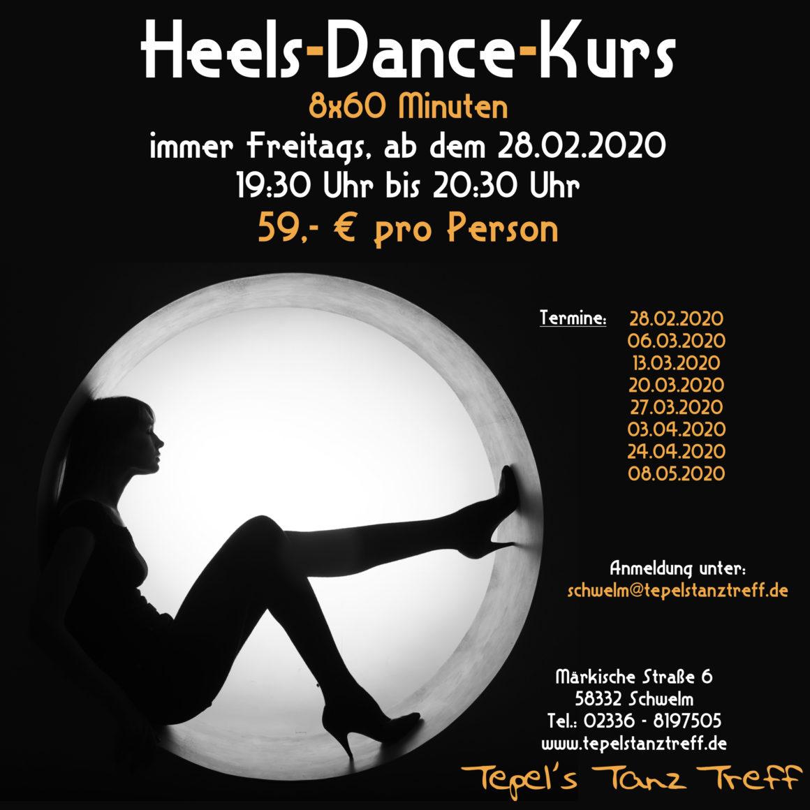 Heels-Dance-Kurs in Schwelm
