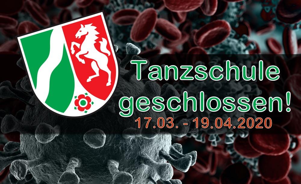 Tanzschule geschlossen (17.03. – 19.04.2020)