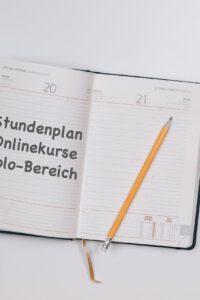 Stundenplan für die Solo-Online-Livekurse