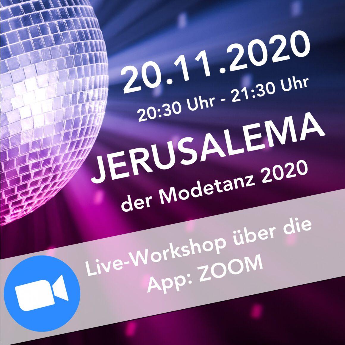 Jerusalema ZOOM-Online Workshop